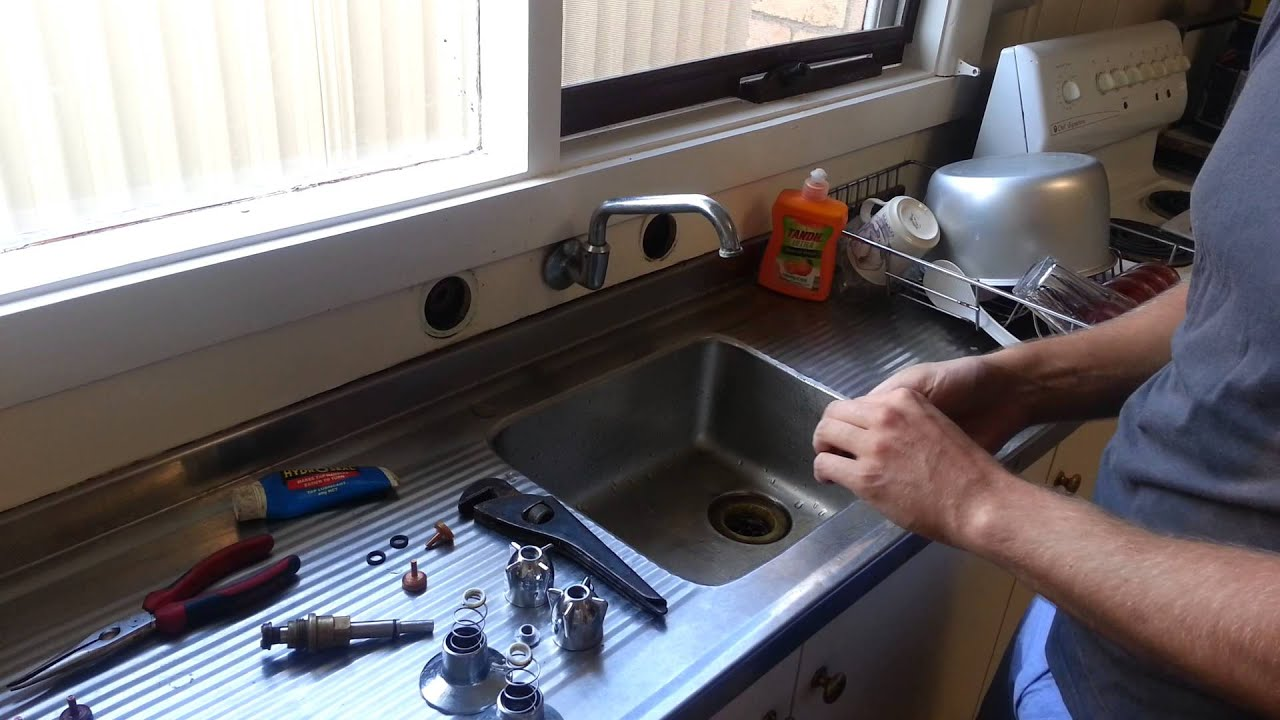 How to fix a leaking kitchen tap - YouTube