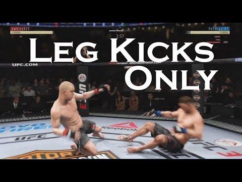 Leg Kicks only Challenge. EA Sports UFC 3 online challenge.
