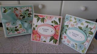 3x3 note card & box set tutorial ~ Stampin' Up! ~ Aus