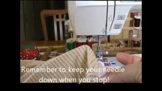 How To Make A Fitted Crib Sheet.wmv