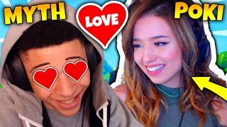 MYTH CONFESSING HIS LOVE TO POKIMANE *NINJA REACTS* | Fortnite Daily Funny Moments Ep.18