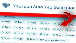 YouTube Auto Tag Generator that Guarantees More Views!