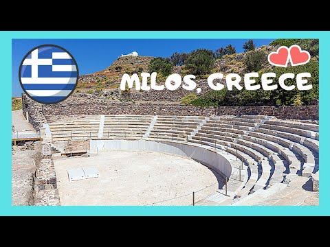 Island of MILOS: Stunning ancient GREEK THEATRE 🏛️, over 2,700 years old (Greece)