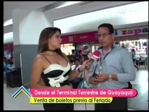 Desde el terminal terrestre de Guayaquil venta de boletos previo al feriado