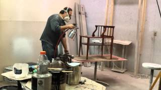 Refinishing A Mahogany End Table  At Timeless Arts Refinishing