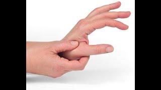 Articulações polegar nas e do formigamento dor