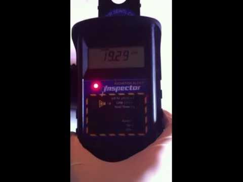 ☢ Strange radioactive contamination on aircraft instrument