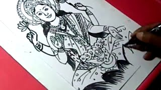 How to LORD LAKSHMI DRAWING for kids step by step