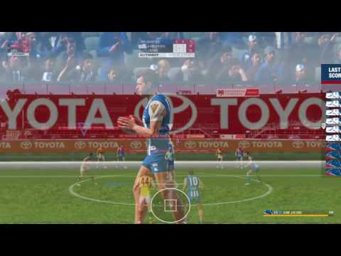 AFL Evolution - Crows v North Melbourne, Medium Difficulty, 5-min quarter