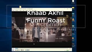 Khaab || Akhil || Funny roast😉😉