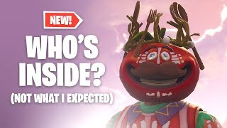 Who's Inside UPDATED TOMATO HEAD CROWN Skin?! Fortnite Battle Royale