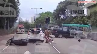 七人車撞電單車 重創鐵騎士