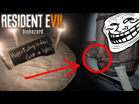 Lucas Baker Troll House   Barn Fight   Happy Birthday Puzzle   Resident Evil 7 Let's Play Part 7