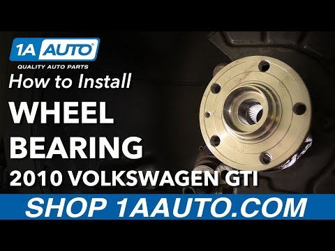 How to Replace Front Wheel Bearings 06-14 Volkswagen GTI