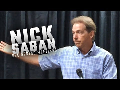 Nick Saban talks rule changes and graduate transfers during SEC Spring Meetings
