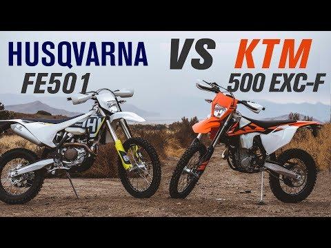 Husqvarna FE  vs KTM  EXC-F | Ride Review