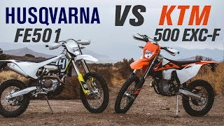 2018 Husqvarna FE 501 vs KTM 500 EXC-F | Ride Review