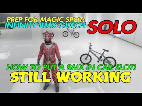 Gta 5 Online HOW TO PUT A BMX IN CAR SLOT,CAR IN SPEEDO SLOT! Infinity BMX GLITCH!
