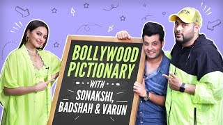 Sonakshi Sinha, Badshah and Varun Sharma play Bollywood Pictionary | Khandaani Shafakhana