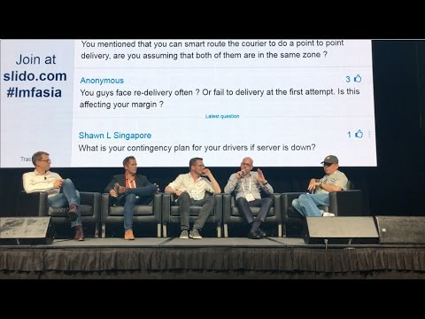 """Same-Day Delivery Challenge"" Panel Discussion at Last Mile Logistics Asia Conference 2017"