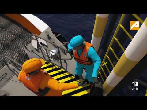 Consignes de sécurité d'embarquement et de débarquement sur une plateforme offshore