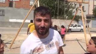 Kilis'te Türk ve Suriyeli çocuklar birlikte eğlendi