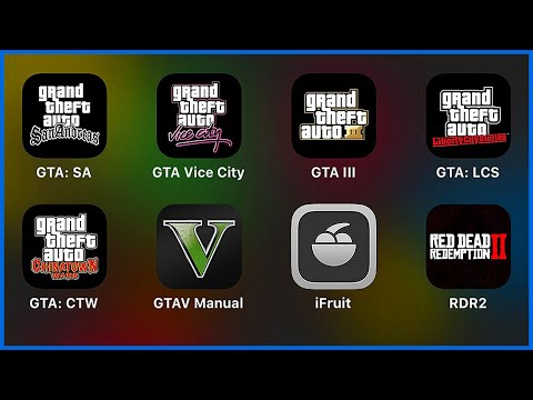 Grand Theft Auto,San Andreas,Vice City,GTA III,Liberty City Stories,Chinatown Wars,GTA V,iFruit,RDR2