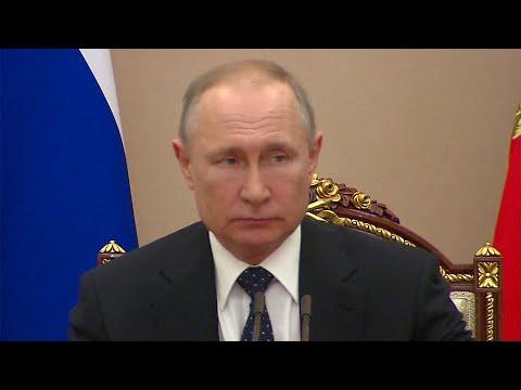 Владимир Путин обсудил с постоянными участниками Совета Безопасности России ситуацию с коронавирусом