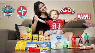 Patrulha Canina, Marvel Superhero, Super Massa, Play Doh, Review Brinquedos - Em Português