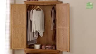 Rustic Oak 2 Door Wardrobe with Drawer