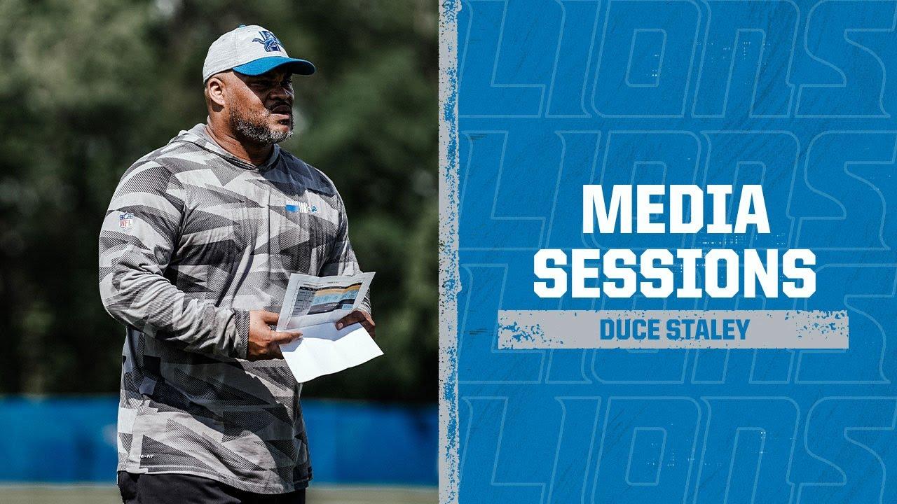 Detroit Lions Media Availability: June 3, 2021 | Duce Staley
