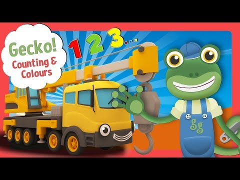 Videos for Toddlers with Gecko's Garage | Learn Colours and Numbers For Children