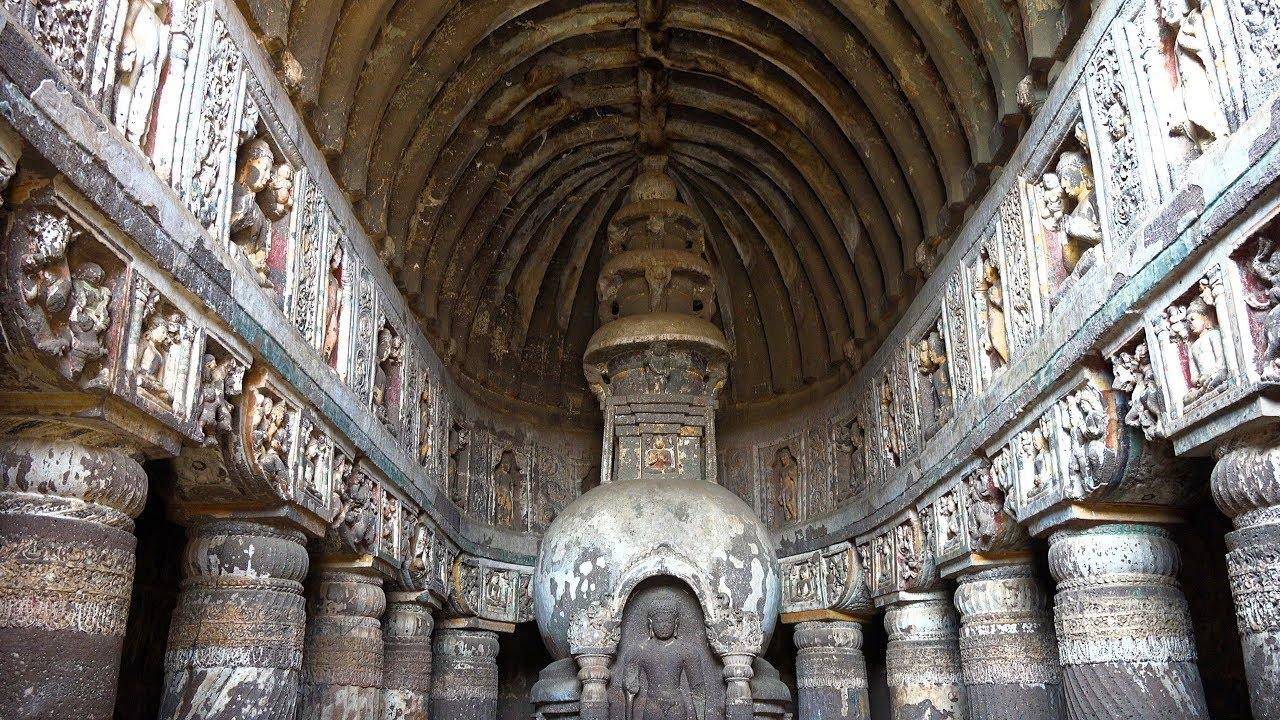 Ajanta Caves Maharashtra India In 4k Ultra Hd Youtube