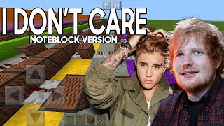 Baixar Ed Sheeran & Justin Bieber - I Don't Care (Noteblock Song)