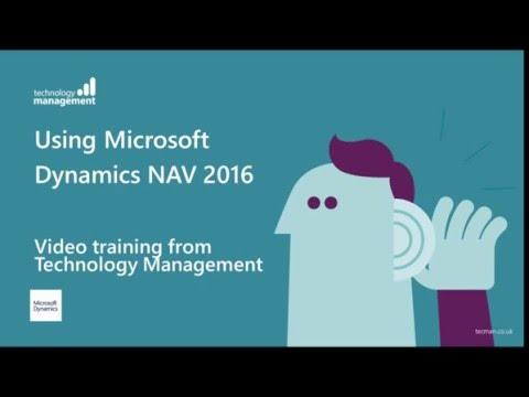 Dynamics Learning: Dynamics NAV 2016 User Training
