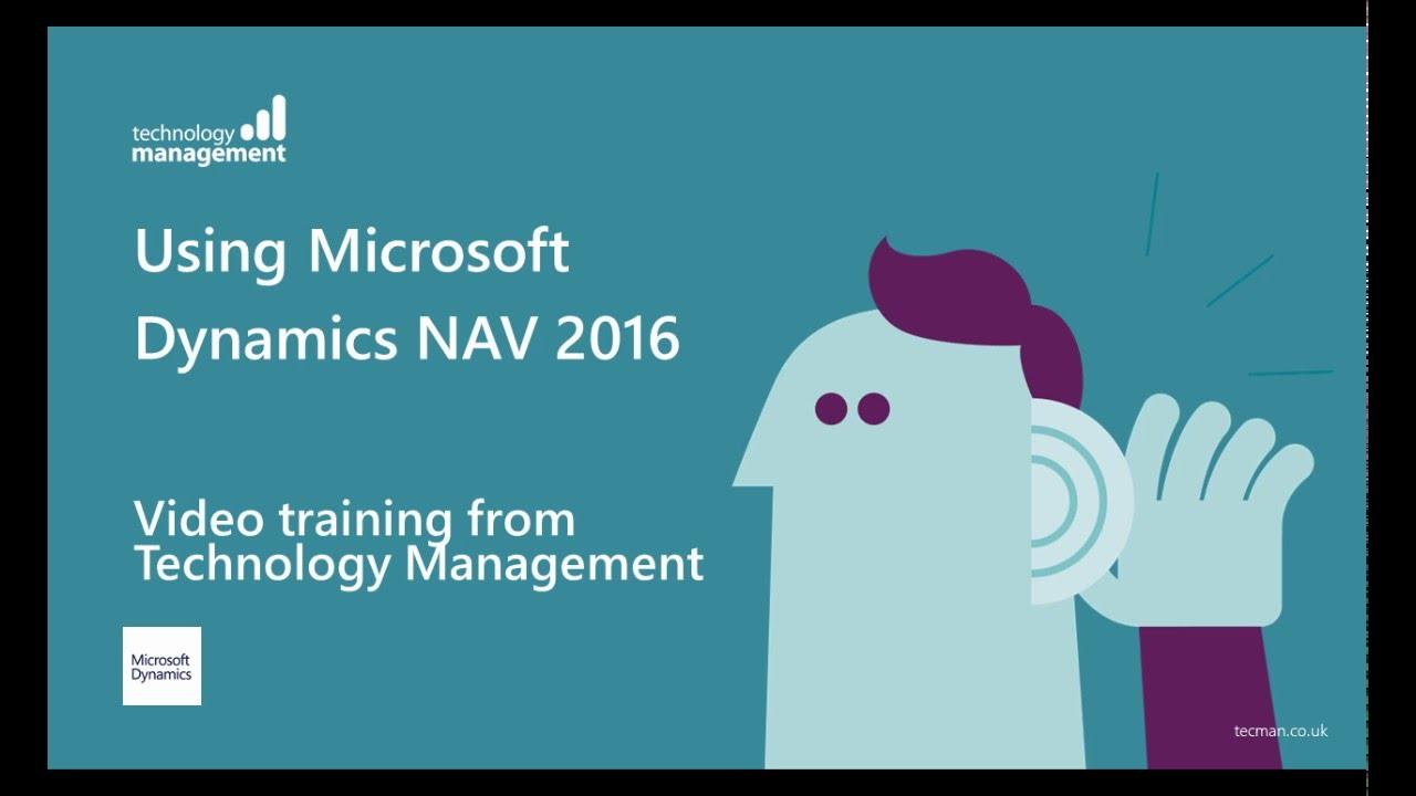Dynamics NAV 2016: Video Training Series