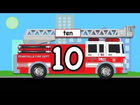 Học Tiếng Anh Cùng Bé.Cùng Đếm Số Chữa Cháy Từ 1 Đến 10 Cho Các Bé P2