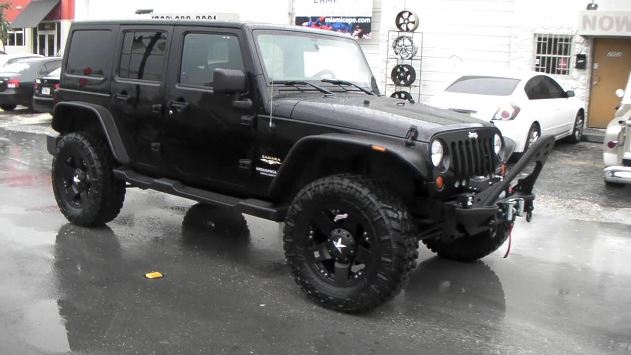 white custom wheels monster post sahara rims wrangler black jeep venue led bar