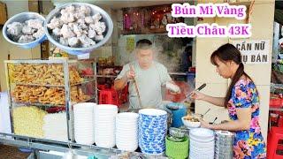 Phát hiện quán bún mì vàng núp bên hông Chợ Thiếc của người Hoa gốc Tiều Châu