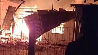 Kebakaran Pemadamkebakaran Kebakaran Desa Adireja Wetan Andquotkarangtawangandquot