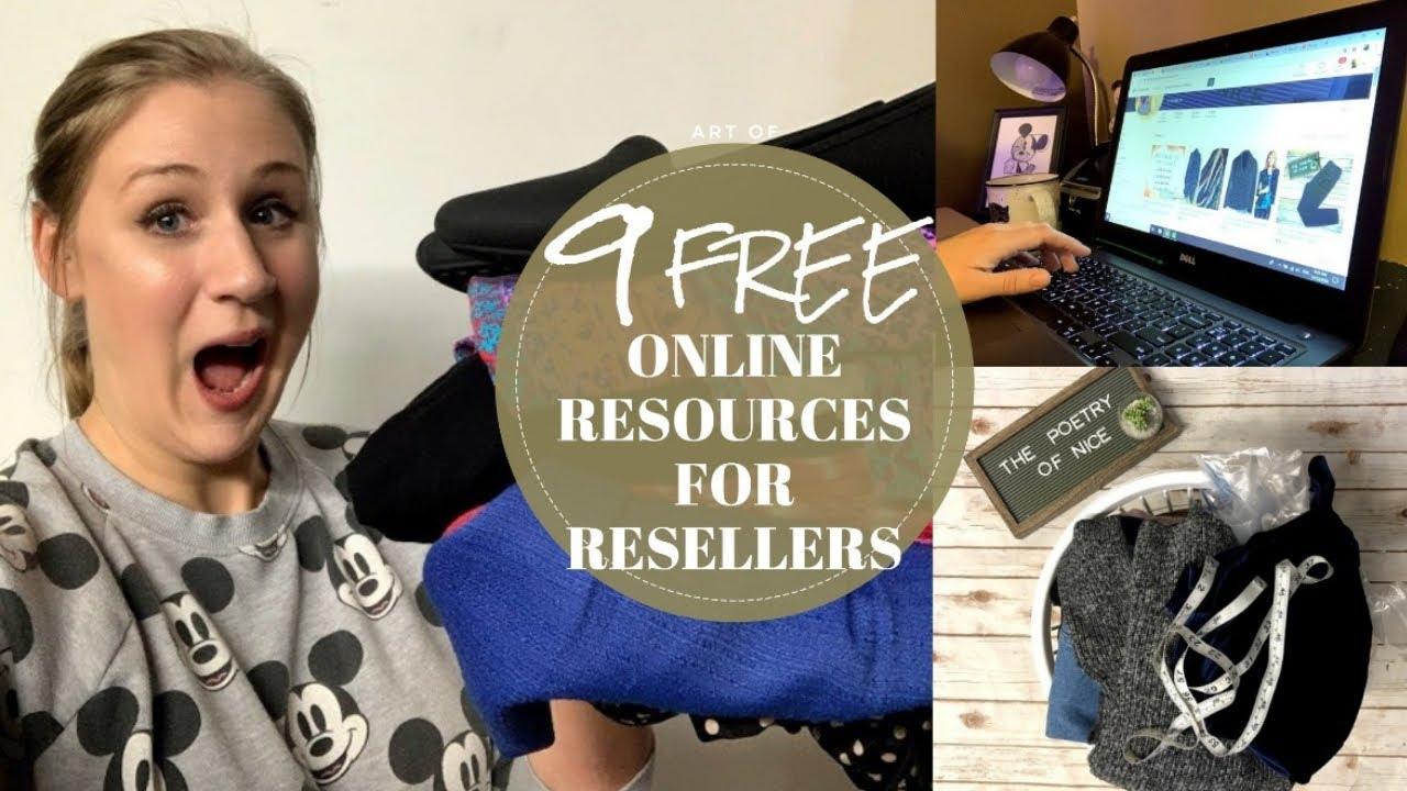 9 FREE Online Resources for RESELLERS | Poshmark, Ebay & Etsy Online Seller | Reseller Tips