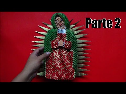 Origami 3D Virgencita de guadalupe parte 2