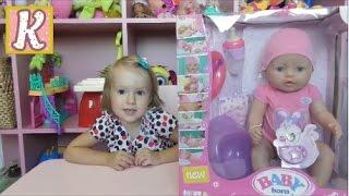 Кукла БЕБИ БОРН -обзор. Плачет, кушает, какает и писает! BABY BORN Doll review. Катя и Беби Борн.