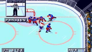 NHL 95 (SEGA GENESIS) Montreal vs New York