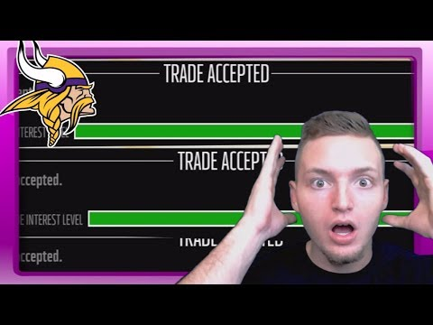 LAST MINUTE HUGE TRADE DEADLINE DEALS! - Madden 18 Vikings Connected Franchise #13