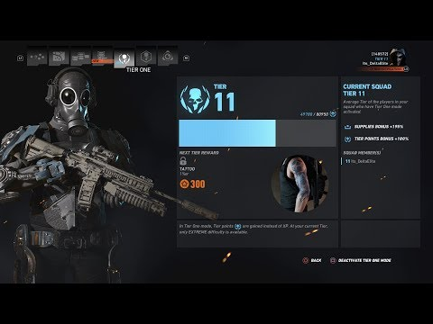 Speed Running Ghost Mode Tier 1 For The Gold Exo Suit (Tier 11-7