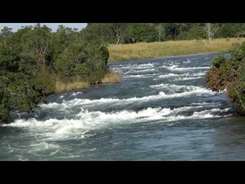 Powerful water, river rapids, Rio Corrente, freshwater rivers, State of Goiás, Brazil,