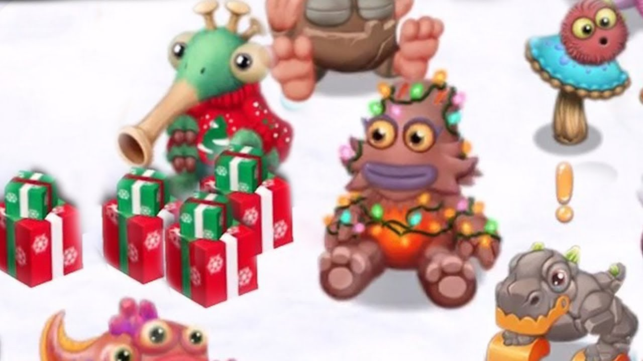 My Singing Monsters Dawn Of Fire All Baby Christmas Costumes Youtube