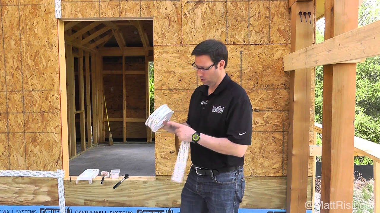 Air Sealing Osb Siga Wigluv Tape Youtube