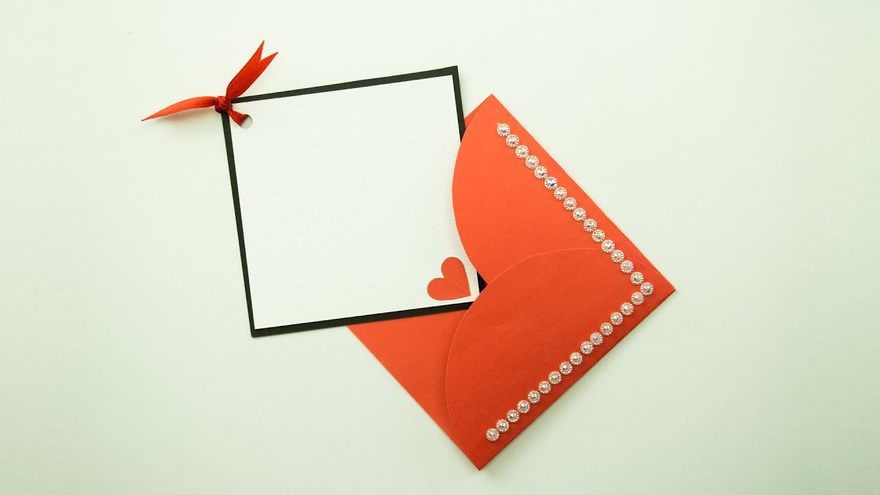 greeting card with envelope diy  youtube